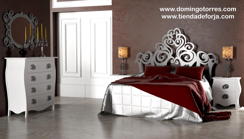 cabecero cabezal y cama de forja moderna c 107 gizane domingo torres sl tienda de forja y decoracin
